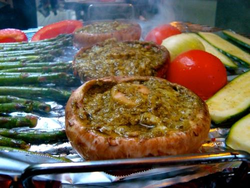 Portobello and Pesto Mushroom Burger